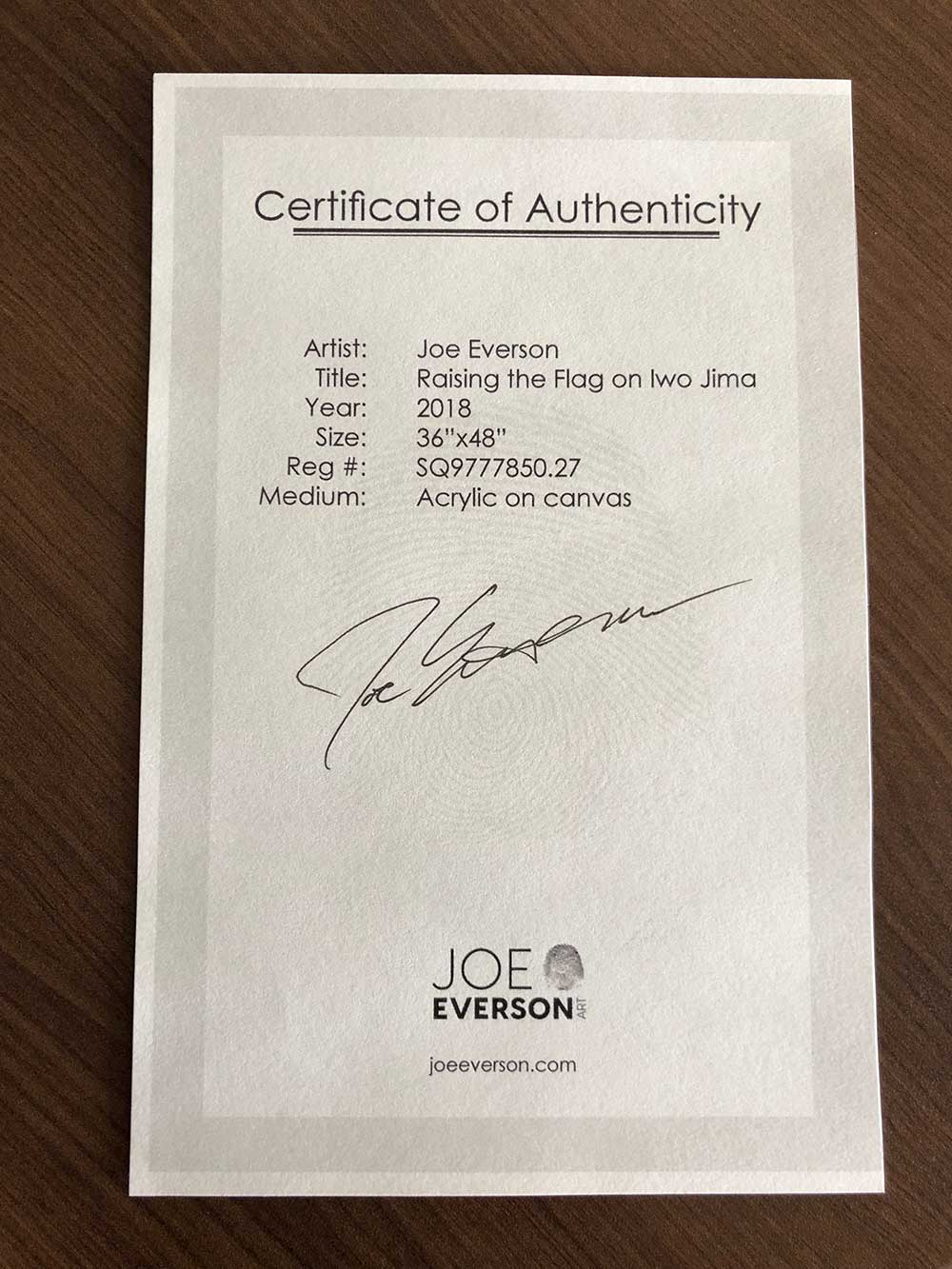 original joe everson painting prize drawing ticket ems pro